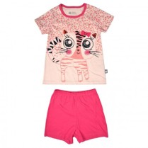 pyjama-fille-manches-courtes-wild-cats