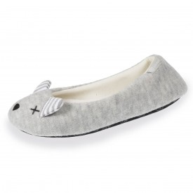 chaussons-ballerines-souris-femme-isotoner-67183-gris-1