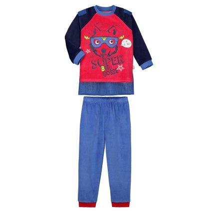 Pyjama-garçon-manches-longues-Beau-gosse-+-cape-amovible-Petit-Béguin